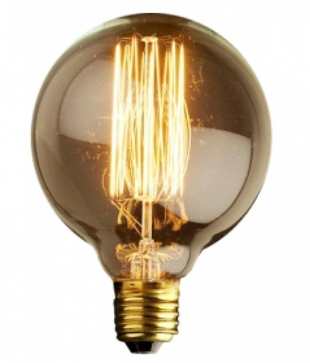 L mpada de filamento de carbono globo 40w 220v dimlux for Lampada globo