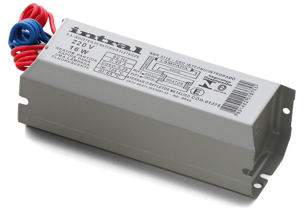 REATOR ELETROMAGNÉTICO PARTIDA RÁPIDA 02 X 32W 220V INTRAL